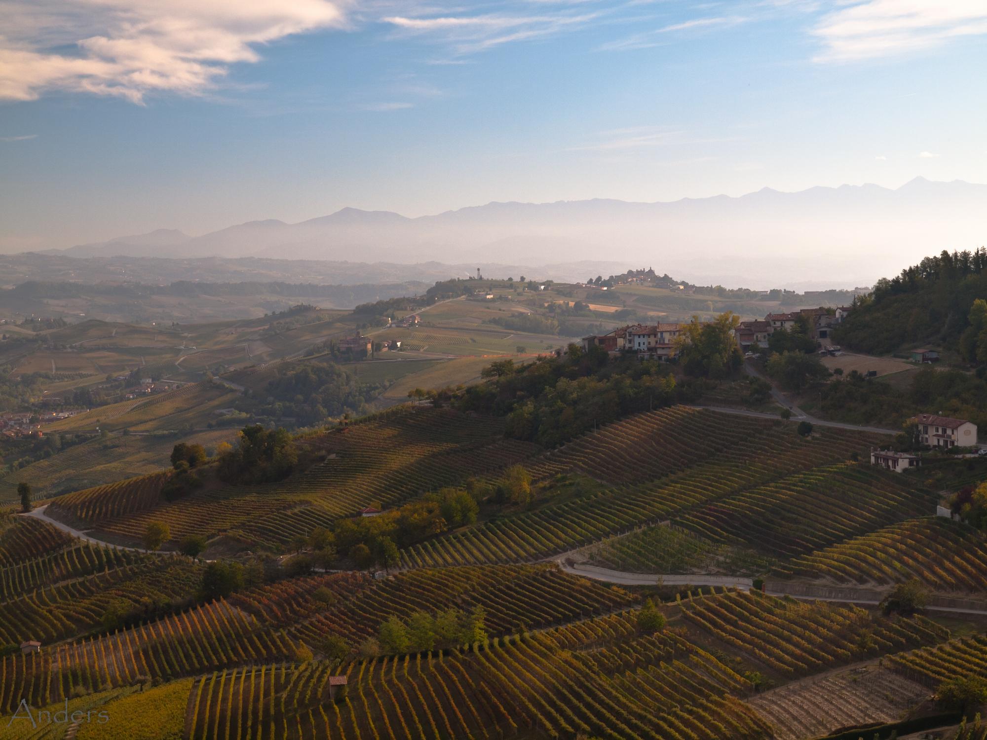 Piedmont landscape in Italy