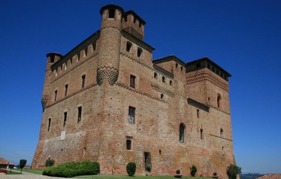 Slott og borger i Piemonte, Nord-Italia