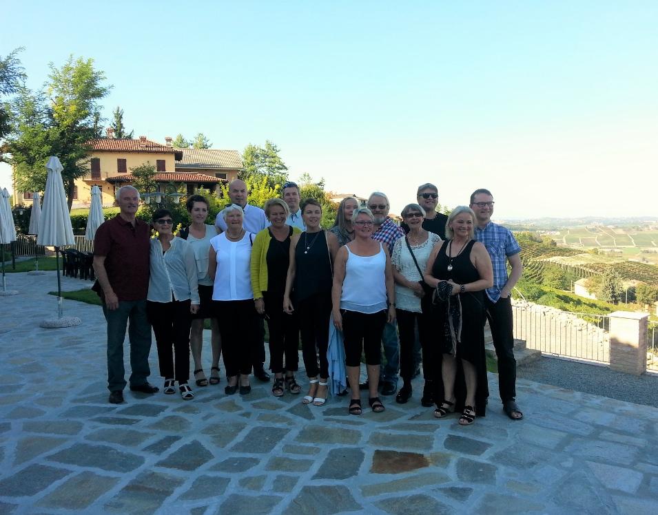 Tur med vinklubben i Piemonte Italia