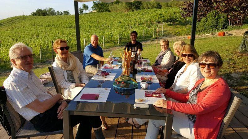 Vinsmakingstur, mat og vintur