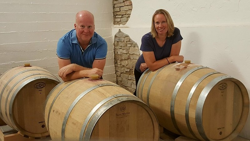 Vingårdsferie vinproduksjon