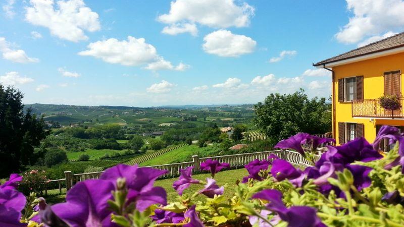 Utsikt fra ferieleilighet Monviso - Cascina Castagna vingård i Piemonte