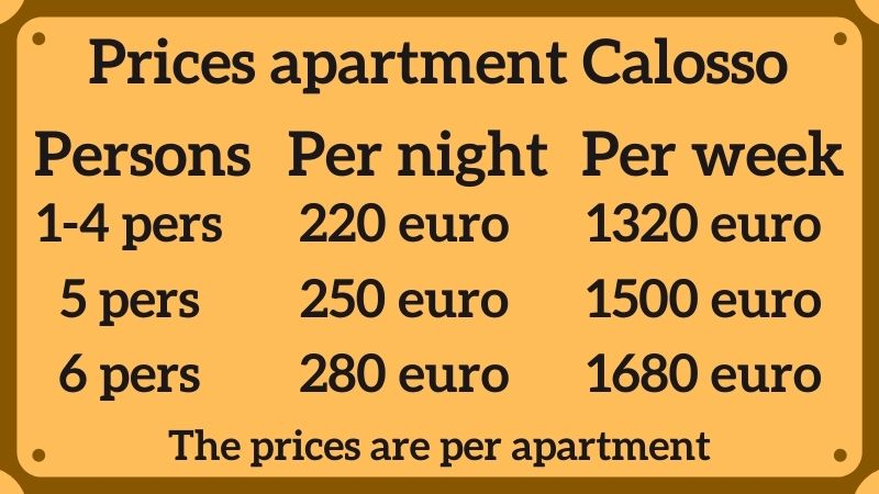 Prices Calosso apartment