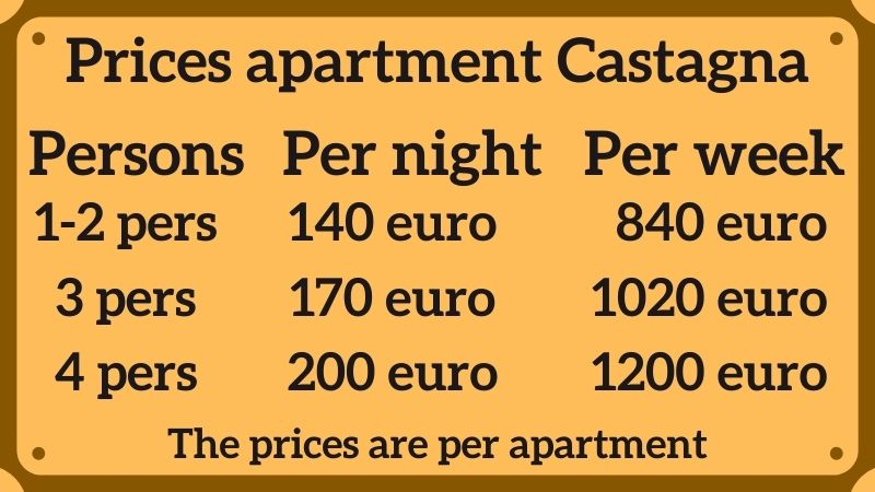 Prices Castagna apartment