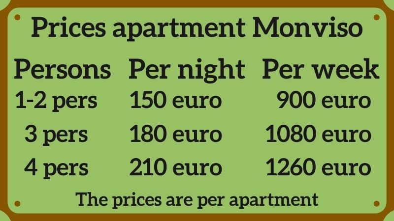 Prices Monviso apartment