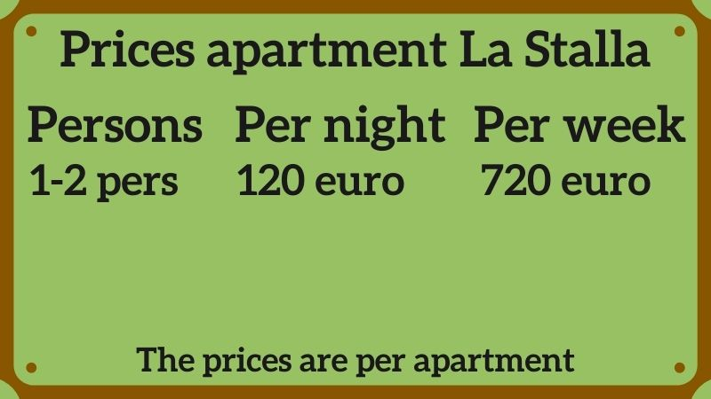 Prices La Stalla apartment